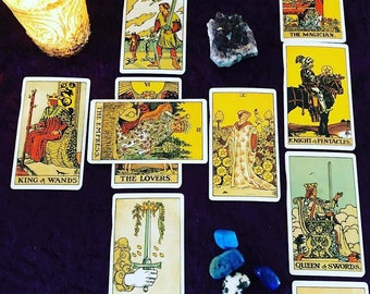 Celtic Cross Life Detailed Tarot Reading with photos by Psychic Tarot Reader of 30 years experience