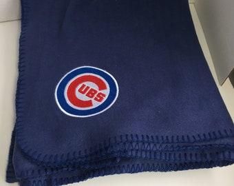 Chicago Cubs Blanket, Fleece Blanket, Fleece Throw, Cubs Home Decor, Cubs Afghan, Chicago Cubs Fleece Blanket