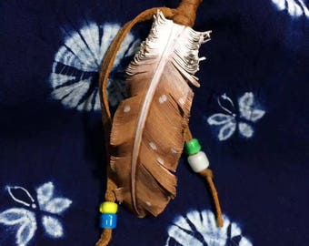 Feather leather craft