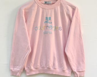 Courreges Sweatshirt Spell out Big Logo M Size
