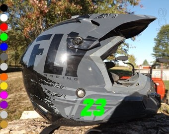 Custom Bike Helmet Etsy - Vinyl decals for motorcycle helmets