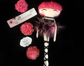 Rag doll / heirloom doll / handmade doll / art doll / dancer