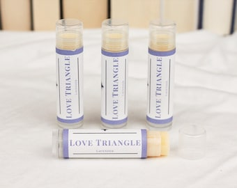 Love Triangle Lavender Vegan Lip Balm
