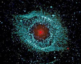 Cross Stitch Pattern Helix Nebula NASA Photo