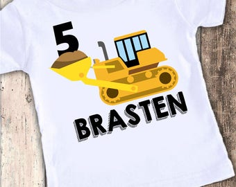 Construction Birthday Shirt - Dump Truck Birthday Shirt - Construction 1st Birthday -  Personalized