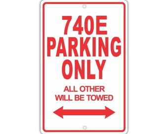 BMW IL Parking Only All Others Will Be Towed Aluminum Metal - Bmw parking only signs