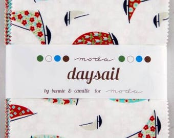 "Daysail Charm Pack by Bonnie & Camille for Moda - Charm Pack Precuts 42, 5""x5"" Squares - Precuts Fabrics - Charm Packs , Quilting"
