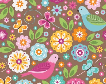 SALE!!! Summer Song 2 by Zoe Pearn for Riley Blake - Fabric by Yard - Cotton Fabric - Quilting - Riley Blake Fabrics - Summer Song 2 Fabric