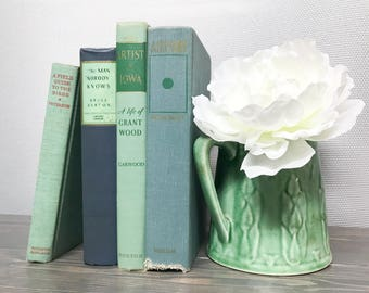 Green and Blue Decorative Books