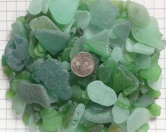 500gram- Craft Quality, Genuine Japanese Sea Glass, Sea Glass Bulk, Beach Glass, Home Decor, Green (no.105)