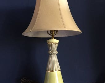 Vintage lamp Hollywood Regency style 1950s ceramic base table lamp