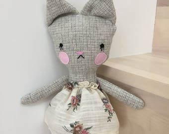 Toy plush animal toy baby and child