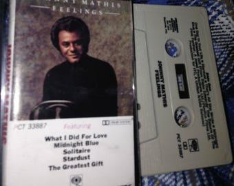 Johnny Mathis - Feelings audio cassette tape vintage