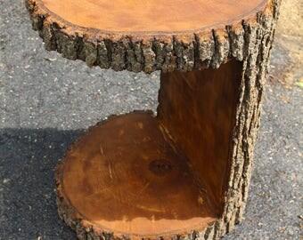 "Maple Table Base Log Wood Stump 22"" x 16"" x 15"""