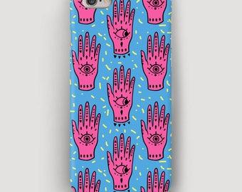 Hand Pattern iPhone Case, Hamsa iPhone 5 Case, Colorful iPhone 7 Cover, Cell Phone Case, Apple iPhone 6 Case, Case iPhone, Yoga Accessory