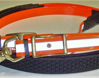 Perfeq Fluorescent/Reflective Reins in Neon Orange