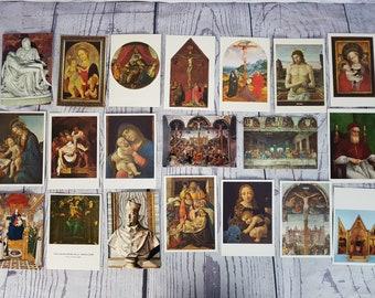 Vintage Lot of 20 Unused Religious Postcards / Jesus Christ Catholic Christian Themed Postcard / Religious Card