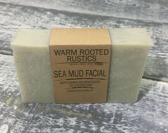 Handmade Face Soap Bar - Sea Mud Facial
