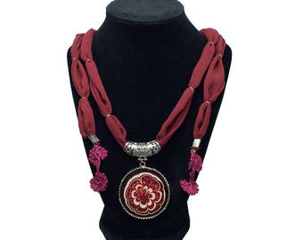 Classic Elegance – Art On Glass Necklace – one size fits all