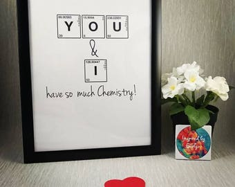 Science//Print//Chemistry//Chemical Elements//Pereodic table//Personalise//Gift//A4//Paper Anniversary//Paper Gift//Anniversary
