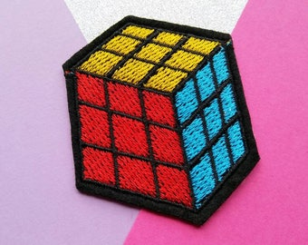 Rubiks Cube Iron On Patch/Applique/Clothing Patch/Toy Patch/Sewing Supplies/Funny Patch/Jacket Patch