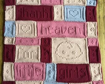Thank Heaven for Little Girls Crochet Baby Blanket