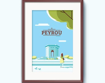 The Peyrou Royal ride poster - Poster Montpellier