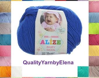 Baby Wool ALIZE -   Children acrylic wool bamboo yarn - 50g 175m 191.4 yards 6890 inches turkish yarn