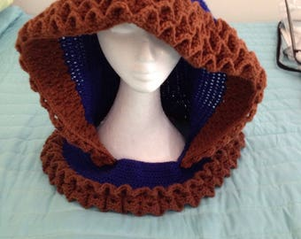 Dragon Scale Hood: Ravenclaw