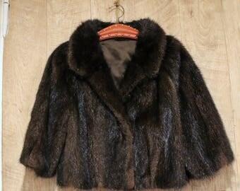 Jacket, fur, vintage, 1950-1960s, evening jacket, mink jacket
