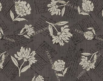 Patchwork fabric grey Wilmingtonprints TWILIGHT BLOOMS