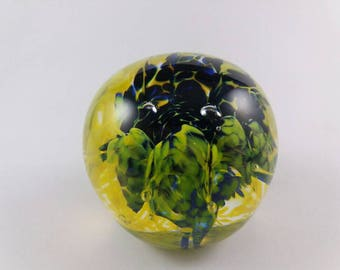 Yellow and Blue Paperweight