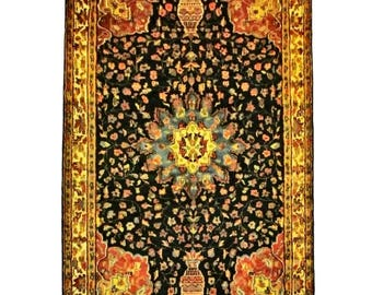 Persian Silk Wool Hand Knotted Rug