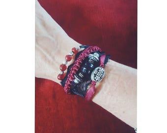 Burgundy bracelet