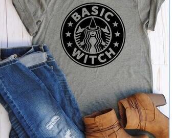 Basic witch/halloween shirt/starbucks/witch/basic witch shirt/fall shirts/witch shirt/halloween/fall/starbucks shirt