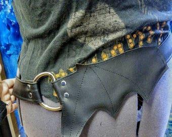 Vegan Bat Belt Rocker deathrock Goth