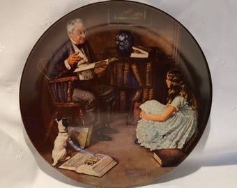1984 The Storyteller by Norman Rockwell Rockwell Heritage Collection Collector Plate with COA #Q5589