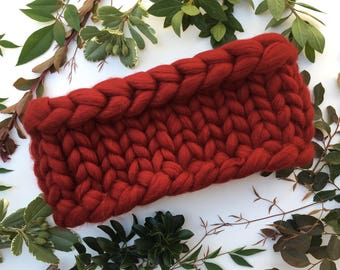 Scarf, Winter Scarf, Infinity Scarf, Thick Wool Scarf, Knitted scarf, bulky scarf, Merino wool scarf, Chunky knit scarf, Burgundy Gift
