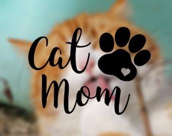 Cat Mom Vinyl Decal
