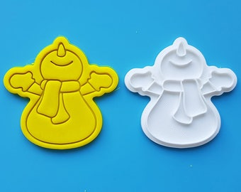Snowman Waiting for Snow Cookie Cutter and Stamp