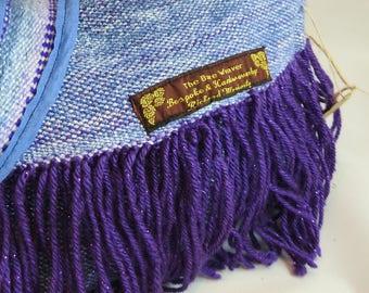 Handwoven sparkle yarn handbag