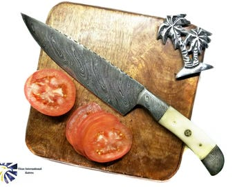 Damascus Steel Cheff Knife : Traditional Kitchen Style