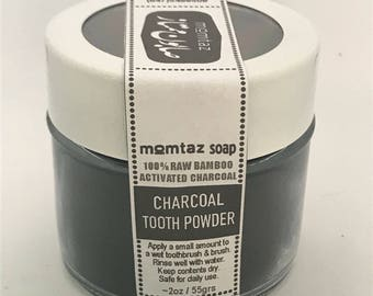 Bamboo Activated Charcoal Tooth & Gum Powder - Teeth Whitening , gum cleansing, breath refreshing