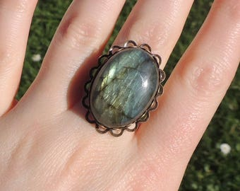 Bronze Labradorite ring