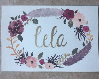 Personalized Watercolor Painting