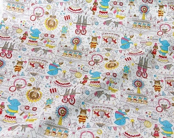 Beautiful Circus Print Japanese Cotton