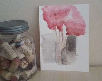 The Tree with Red and Pink Leaves