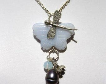 Dragonfly and Butterfly Necklace thai karen