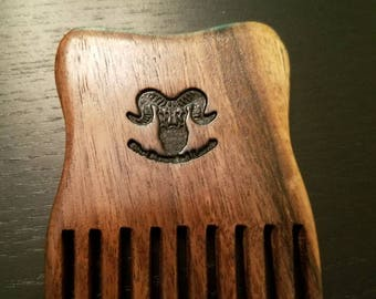 Handcrafted black walnut beard combs