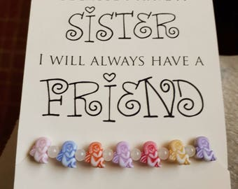 Colourful Sister Bracelet and Poem